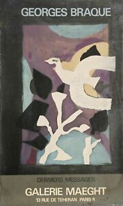 Georges Braque, Derniers Messages, Galerie Maeght, Lithograph Poster