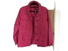 Simply Be Pink Denim Jacket Size 16