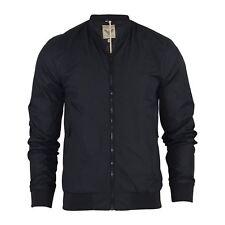 Mens Harrington Jacket Brave Soul Ma1 Summer Lightweight Bomber Coat Black Medium