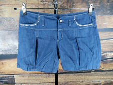 ZARA Damen Gr S Kids 13-14 Shorts Jeans kurze Hose denim blau blue trousers #303