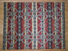 "8'10""x12' Hand-Knotted Southwestern Design Pure Wool Oriental Rug R40802"