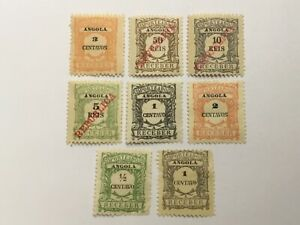 old stamps  PORTUGAL ANGOLA    x  8 postage due