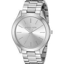 MICHAEL KORS Runway Silver Dial 42mm Face Classic Slim Ladies MK3178 Watch