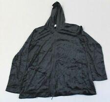 J. Jill Women's Pure Jill Hooded Zip Refined Velour Hoodie CB4 Black Small NWT