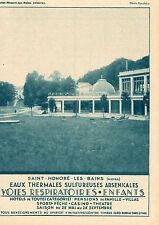 SAINT HONORE LES BAINS EAUX THERMALES SULFUREUSES ARSENICALES PUB 1931 AD