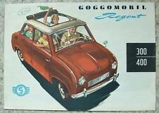 GOGGOMOBIL REGENT 300/400 delle vendite di automobili opuscolo 1956-57