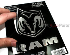 Dodge Ram Logo Chrome Vinyl Emblem car truck hood/rear/trunk/dash Decal Sticker