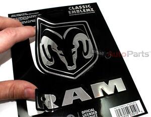 Dodge Ram Logo Chrome Vinyl Emblem car truck hood/rear/trunk/dash Decal Sticker