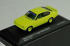OPEL KADETT C COUPE STREET RACER 1973 Minardi Yellow Minichamps 1:43