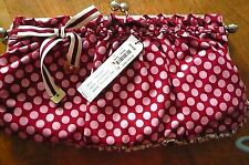 Laundry by Shelli Segal Red & White Polka Dot  Clutch with Strap New W/ Tags NWT