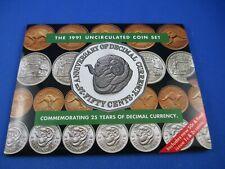 1991 Australian RAM UNC 8 COIN SET. 25th Anniversary of Decimal Currency 50c.
