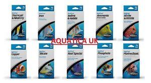 Seachem Multi Test Kits Marine Aquarium Fish Tank Reef Freshwater Kit 75 Tests