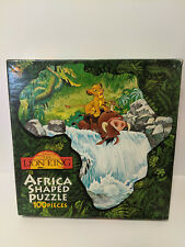New Unopened Lion King Africa Shaped 100 piece Puzzle Disney Simba Timon Pumba