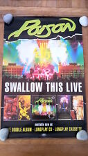 POISON 'Swallow This Live ' unused Shop Display POSTER 20x30 inches