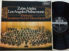 SXL 6323 Tchaikovsky Symphony No4 - Zubin Mehta LP 1st UK Decca ED2 Stereo EX+