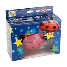 ANSMANN Childs LED Nightlight ladybird with starlight projection onto walls and