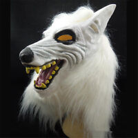 Halloween Wolf Head Mask Latex Cosplay Party Animal Costume Mask Theater Prop