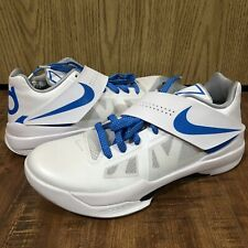 928db471187 NEW Nike Zoom KD 4 CT16 QS Thunderstruck White Blue Men s Basketball Shoes  (8.5