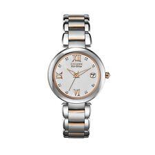 Citizen Eco-Drive Women's EO1116-57A Diamond Accent Two-Tone Bracelet 33mm Watch