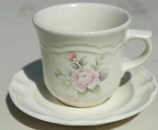 VTG Pfaltzgraff Tea Rose cup and saucer set 8 sets available coffee flower pink