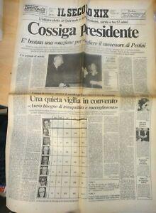"""GIORNALE - IL SECOLO XIX - 25 GIUGNO 1985 """" COSSIGA PRESIDENTE """""""