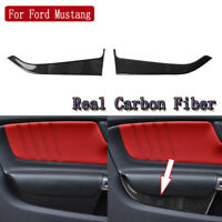Carbon Fiber Interior Door Panel Decorative Trim For Ford Mustang MKVI 2015-2019