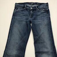 7 FOR ALL MANKIND FLYNT Women's Jeans Boot Cut Stretch Sz 29 Actual 32X32