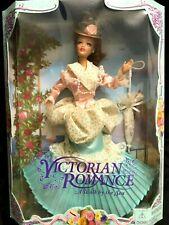 Victorian Romance Doll Peach Mint Green Ginger Hair Umbrella A Walk By Sea Vtg