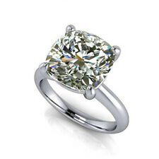 Diamond Engagement Ring .925 Silver Ring 3.14 Ct Cushion Near White Moissanite
