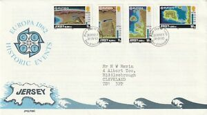 JERSEY 20 APRIL 1982 HISTORICAL EVENTS FIRST DAY COVER JERSEY SHS a