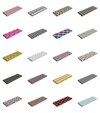 "Ambesonne Geometric Themed Bench Pad HR Foam with Fabric Cover 45"" x 15"" x 2"""