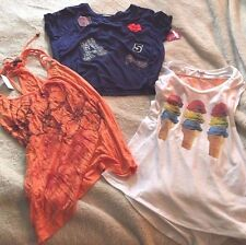 Junior's Clothing Lot of 3 Size L Bongo Fang Multi Color Tops all New With Tags