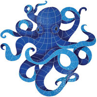 Mosaic Octopus for Swimming Pool Wall Art Patio Walk Drive Ways - Free Shipping