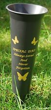 Grave flower vase- Special DAD - spike cemetery memorial