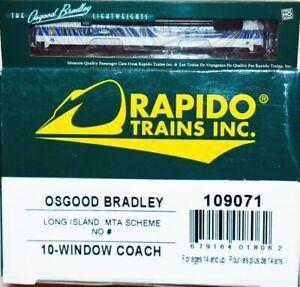 Long Island No# MTA Scheme 10-Windoww Coach Rapido 109071 HO Scale JA22.18