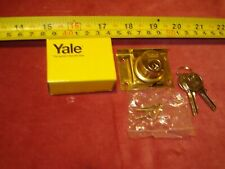 (1038.) Yale Drawer Lock - Solid Brass