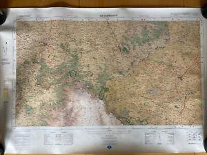 1972 Vintage Map of Harrismith & Bethlehem South Africa No 2828