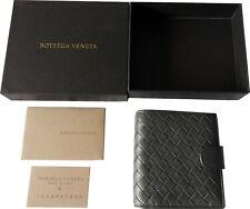 Bottega Veneta Small French Woven Bi-Fold Wallet NEW