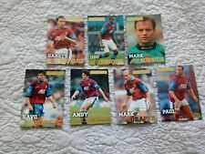 9 x Aston Villa Merlin Premier Gold Football Cards 1996 1997 Ugo Southgate