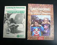 Earthworms Gardening Fishing CSIRO + Osborne Compost Tumbler instruction book