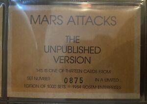 Mars Attacks ROSEM 13-Card Unpublished Set 1984 #875