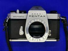 Asahi Pentax Spotmatic SP II M42 TTL 35mm film SLR Camera Body + extras. working