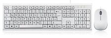 Perixx PERIDUO-211W DE, Tastatur Maus Set USB kabelgebunden deutsch weiß