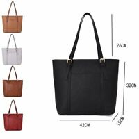 Women's Designer Style PU Leather Tote Shopper Hand Bag