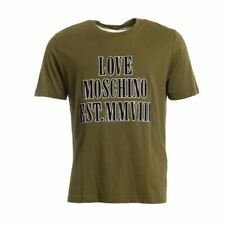LOVE MOSCHINO T-Shirt Green Cotton Short Sleeved Size Large CF 110