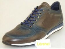 Lorenzi Shoes Men's Made in Italy soft Leather Handmade Trainers EUR 42