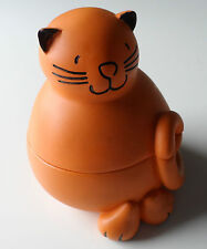 "Plump Orange Cat Trinket Pot 5"" x 4"" Freepost UK"