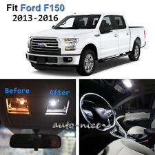 10x Xenon White LED Interior Lights Kit For 2013-2016 Ford F150
