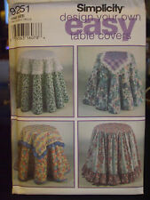 Simplicity 9251 Circle Tablecloths, Table Runner or Table Topper Pattern