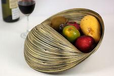 Decorative Wave Bamboo Bowl Basket Fruit Potpourri Bread Dry Ingredients. Black